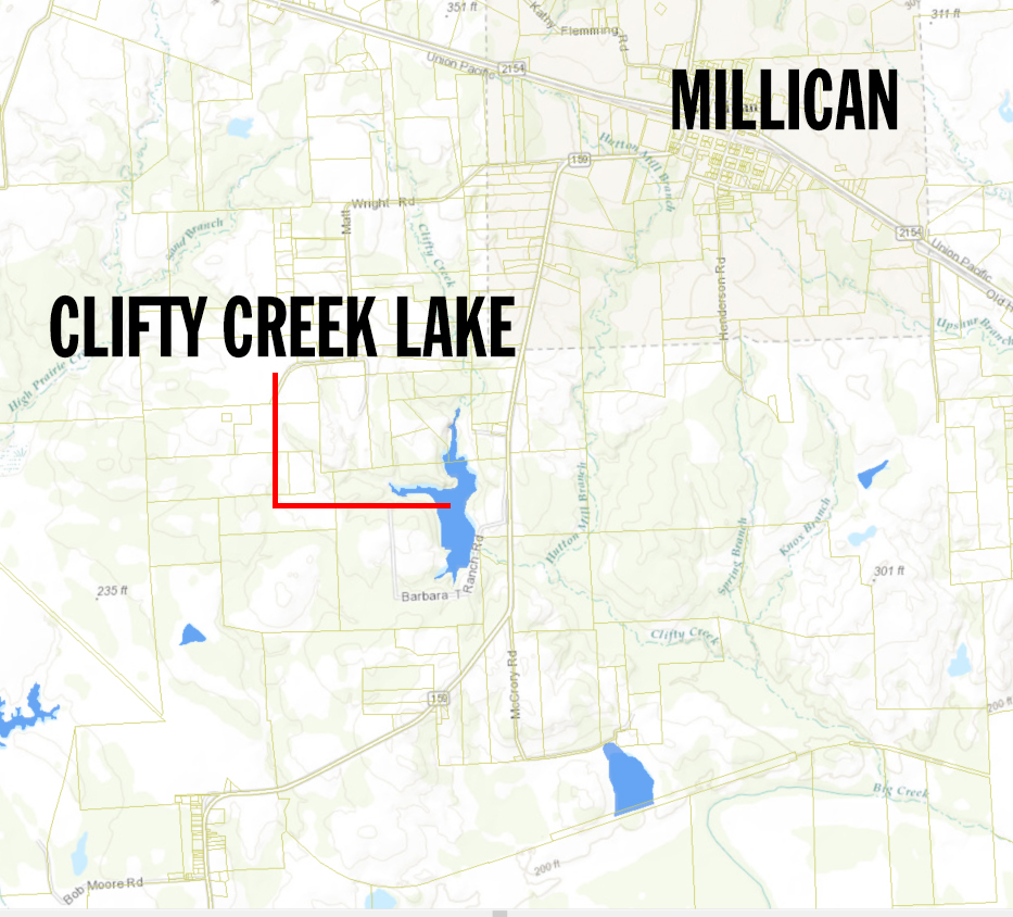 clifty creek lake map